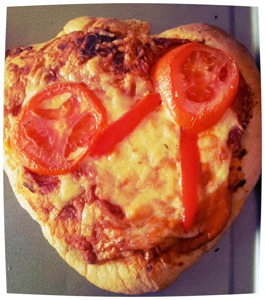 , Valentine's Day:  Heart Shaped Pizza