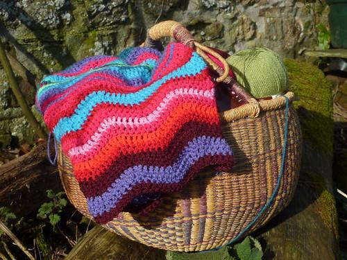 WIP- ripple blanket
