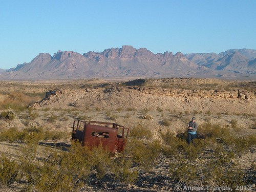 An old car at Petite Overlook, Big Bend National Park, Texas