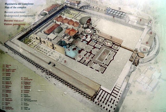 Plan of the complex of the Baths of Caracalla, Caelian Hill, Rome