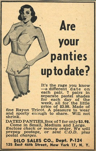 Day-of-the-week panties ad