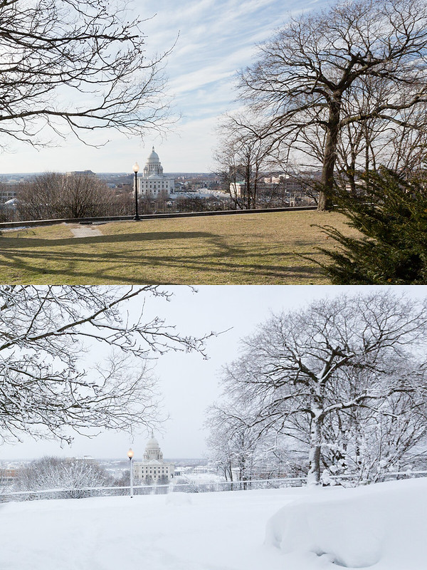 snow storm before & after