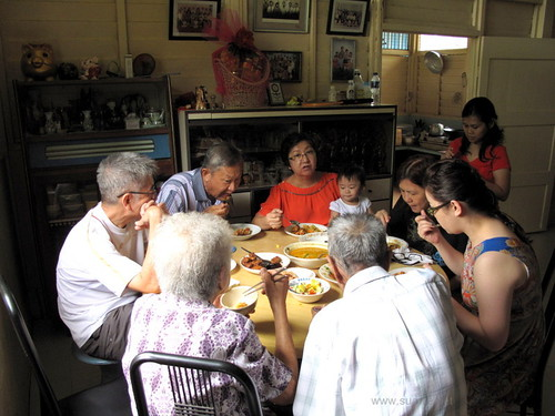 Suanie's Chinese New Year 2013 - first day lunch