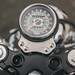 Prkns posted a photo:	Single clock mount, custom made by Chainsaw MotorcyclesFull photoset at Deaf Pigeon.
