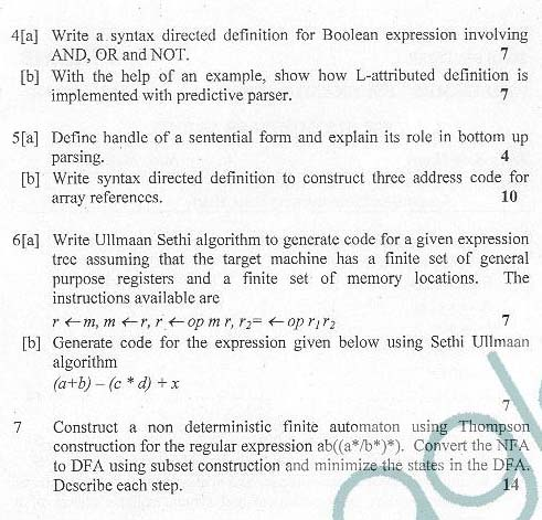 DTU: Question Papers 2012 - 6 Semester - End Sem - SW-312