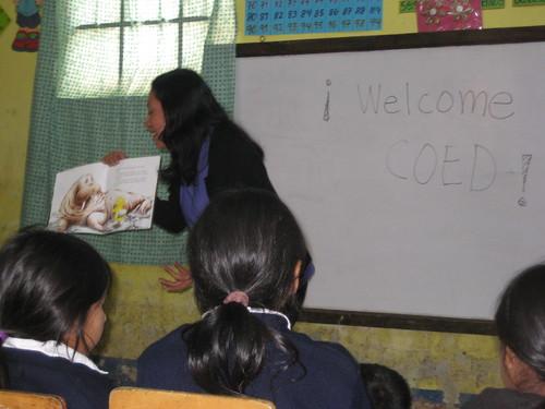 CORP Teacher reading