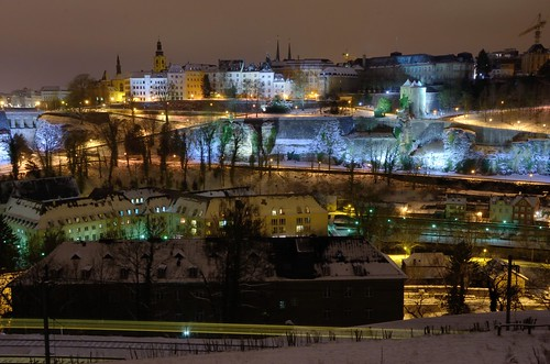 A winter night in Luxembourg City by kewl