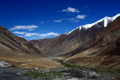 Near Tangtse in Ladakh, India