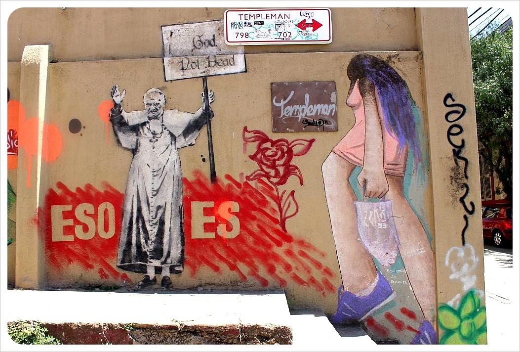 valparaiso street art templeman street