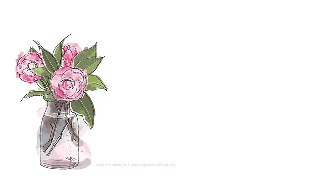 anopensketchbook_camellia_desktop_background