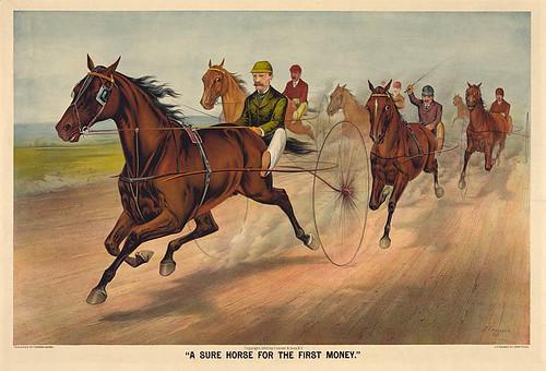 012-Imagen carreras caballos trotones-Library of Congress