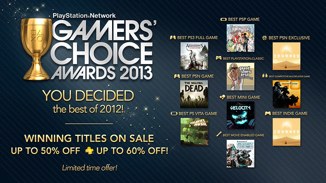 PSN Gamers' Choice Award Winners 2013