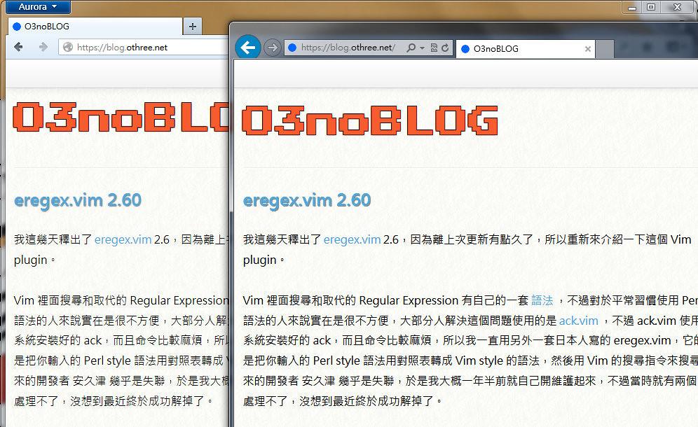 IE10 vs Aurora on Text rendering