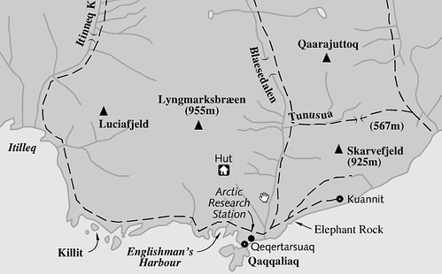 Qeqertarsuaq Hiking Map