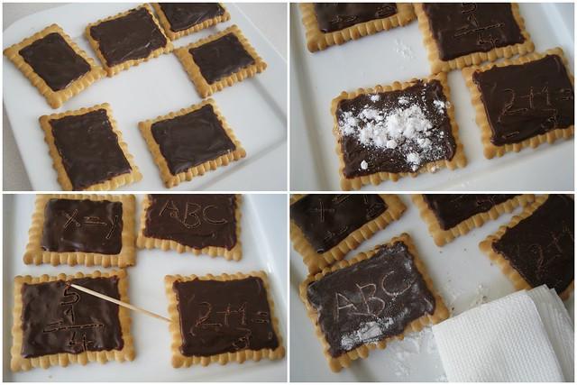 çikolatalı kara tahta ..