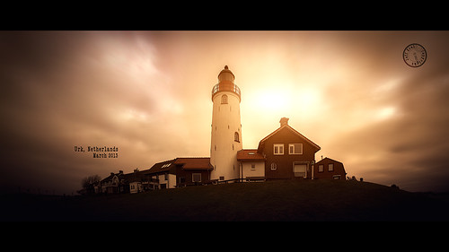houses light sunset panorama lighthouse cinema holland netherlands dutch clouds canon landscape warm exposure widescreen pano kitlens special le shore cinematographer cinematic 169 stich urk megapixels nearthesea 2013 60d canon60d jeffkrol