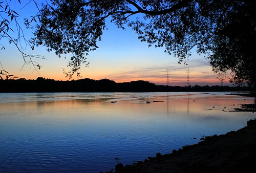 sunset night river geotagged poland warsaw vistula białołęka