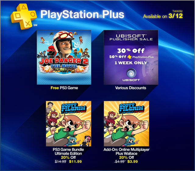 PlayStation Plus Update 3-12-13