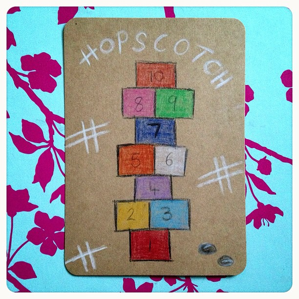 Day 11: hop I spent many happy days playing this, we didn't need money spent on us to be entertained! The good old days! #hopscotch #doodleadaymarch #doodleaday