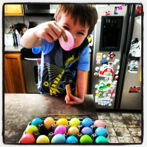 Egg coloring!!