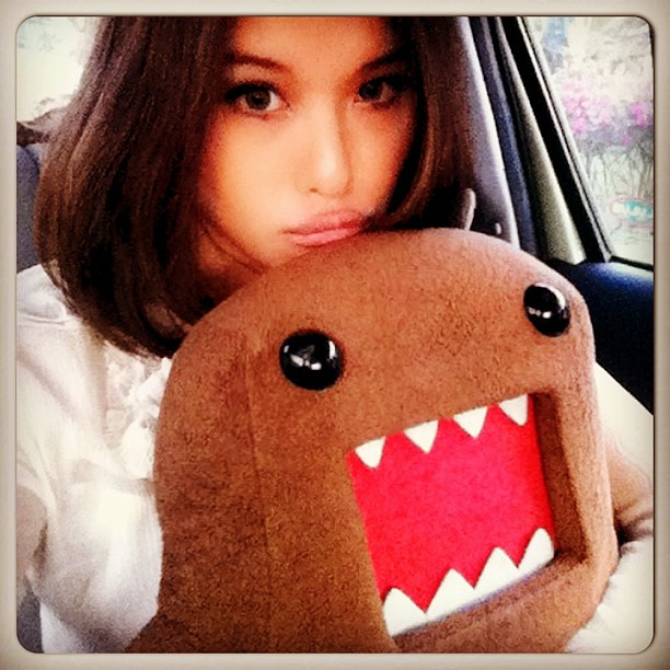 With Mr. Domo chilling in the backseat of the car heading back to Melaka. ❤ #domo #melaka #roadtrip #weekendtrip #hometown #monster #portrait #self