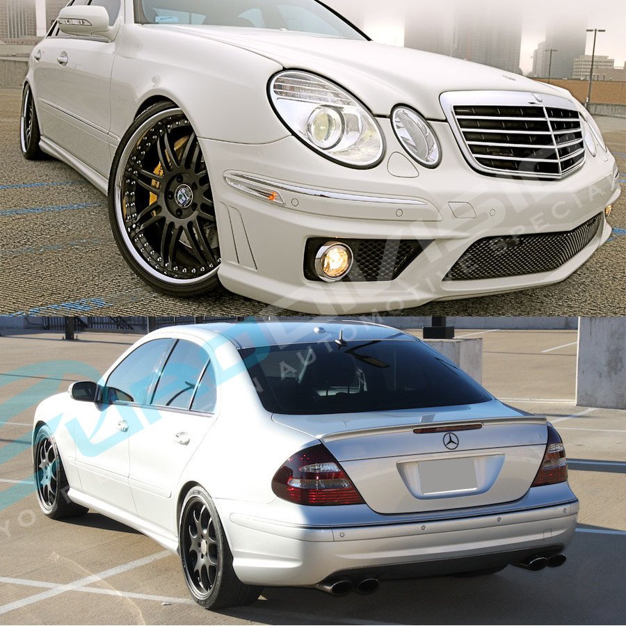 mercedes e class w211 07 09 amg style body kit bumper bar. Black Bedroom Furniture Sets. Home Design Ideas