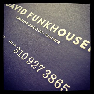If you don't suffer from business card envy you will when David hands you one of these...
