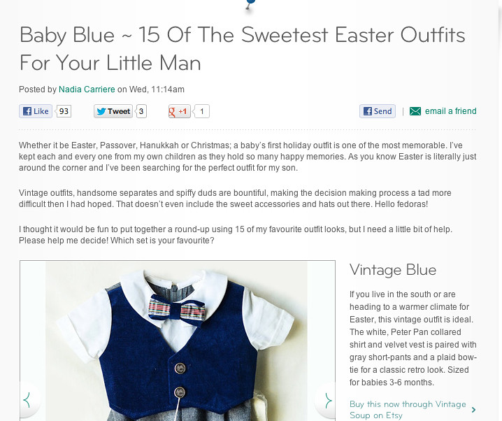 Feature in Disney Baby blog