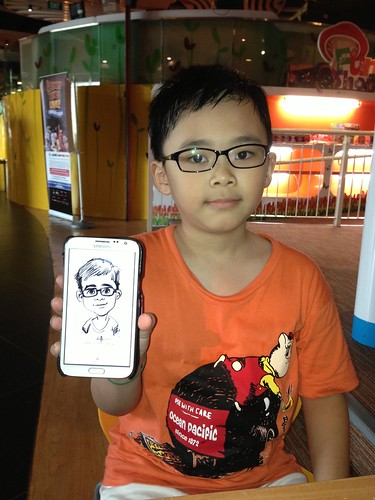digital caricatures on Samsung Galaxy Note 2 for Stabilo - 3