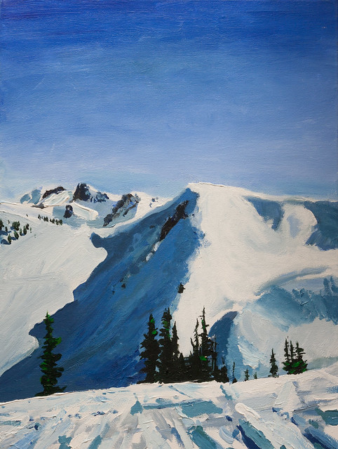 Painting of Flute mountain.