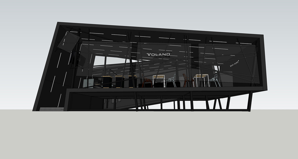 VOLANO booth at Vietnam Architecture Exhibition, design by Trần Nhật Thu Architect