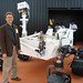 Roger Wiens with Curiosity rover