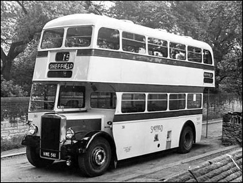 NWE561 Sheffield Corporation Transport Department fleet no. 361 a 1952 built Leyland PD2/12 with rare Mann Egerton H56R bodywork