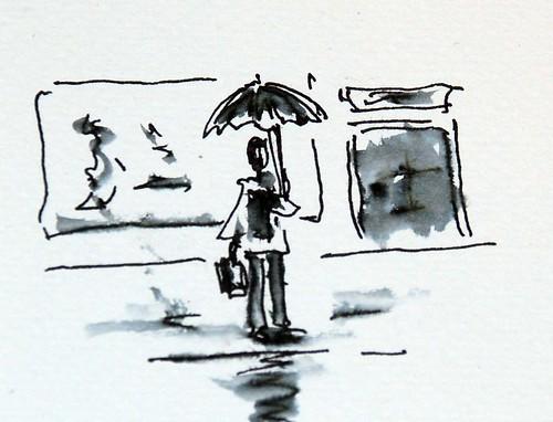 Día de lluvia en Vitoria