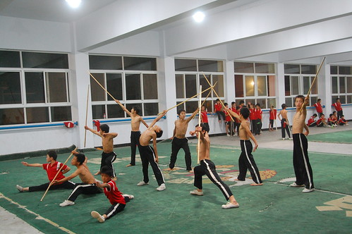 staff kung fu training china