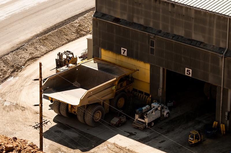big and small trucks