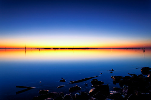 blue light lake water japan canon eos twilight 日本 ibaraki 黄昏 茨城県 canonef1740f4lusm 霞ヶ浦 namegata 行方市 5dmarkii chibitomu