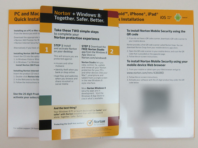 Norton 360 Multi-Device - Packaging Inside View #2