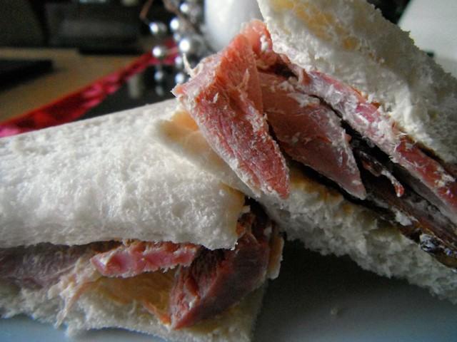 Homemade ham sandwich