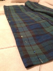 Plaid Pencil Skirt - in Progress