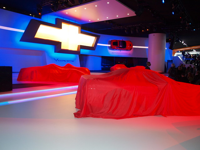 Seven Generations of Corvettes Underneath the Red Sheets