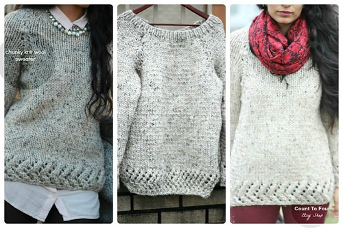 chunky knit wool sweater2