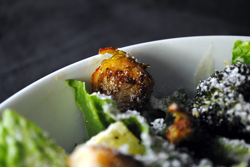 Roasted Broccoli & Brussels Sprout Caesar Salad