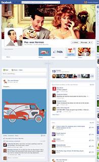 Pee-wee Herman posts Van on FB
