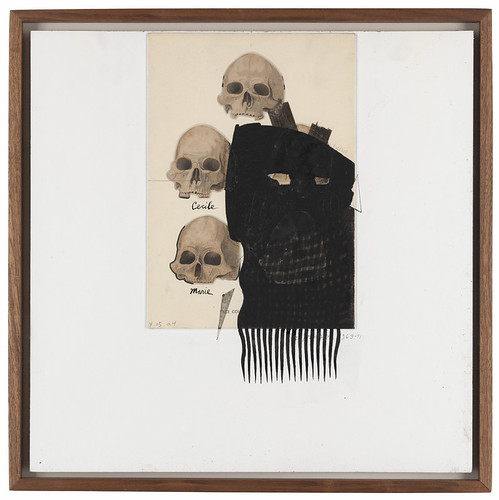 L0072031 Ray Johnson, Untitled (Skulls with finger