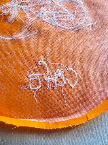 lettering detail