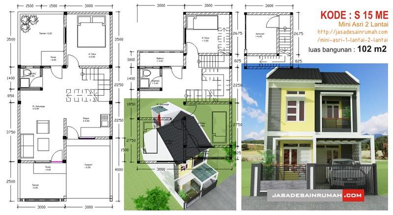 mini asri 1 lantai 2 lantai jasa desain rumah