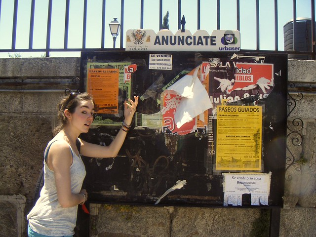 Spanish noticeboard in Toledo