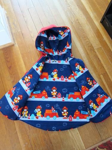 Fleece vest, flannel lining