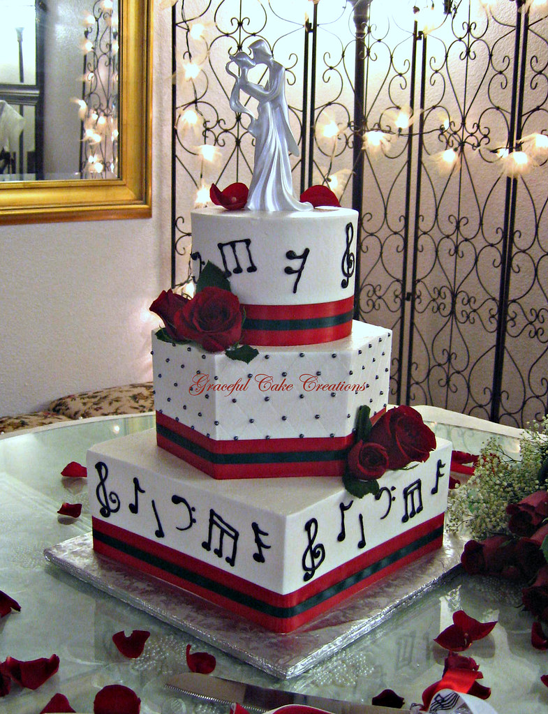 Musical Notes Wedding Cake A Photo On Flickriver